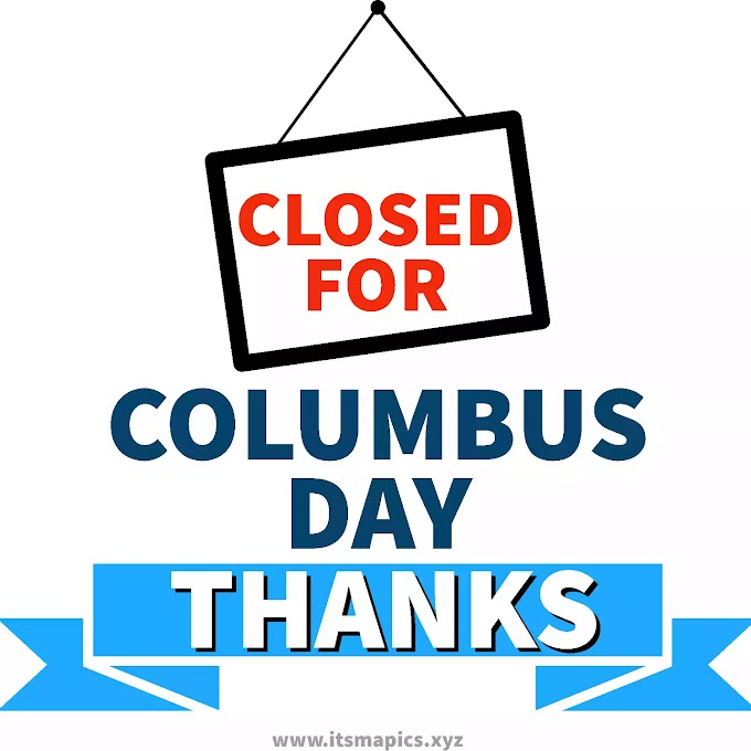 Closed on Columbus Day Sign Free Printable Image for Office & Stores