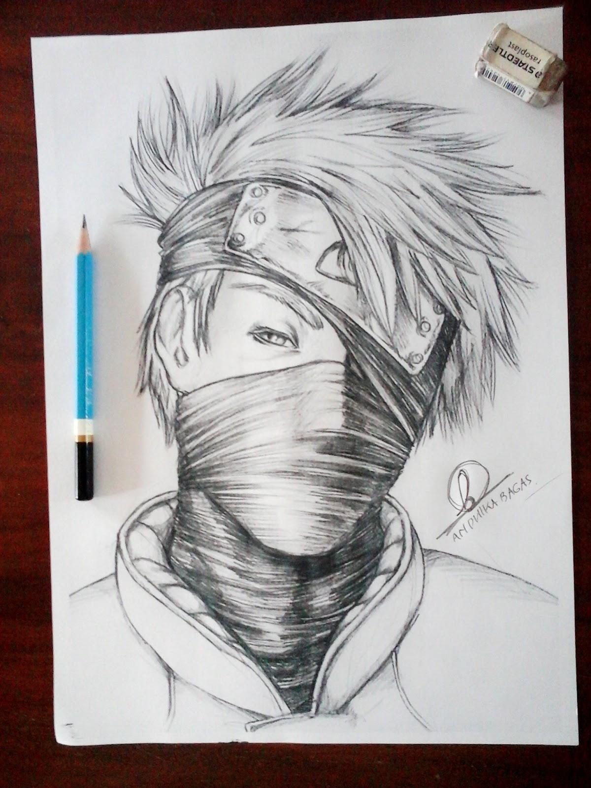 Kakashi Pencil Art WolfTech