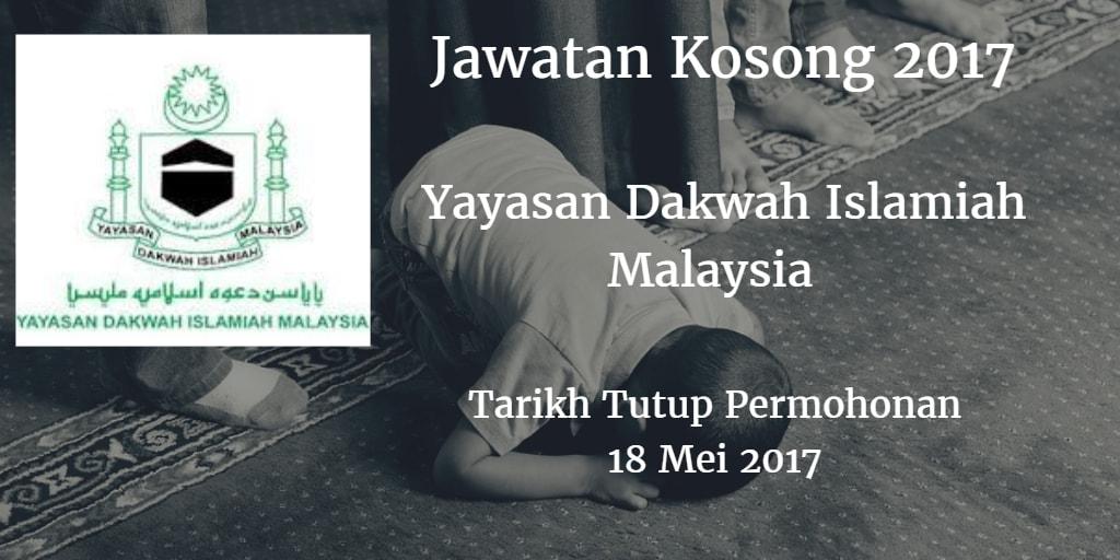 Jawatan Kosong YADIM 18 Mei 2017
