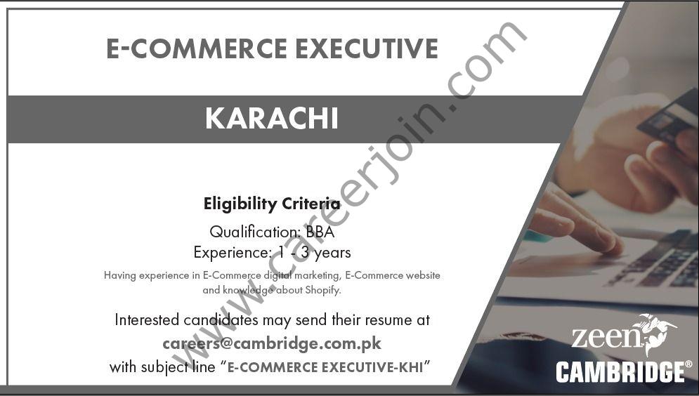 Cambridge Garments Jobs 2021 in Pakistan
