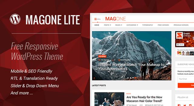 MagOne Lite 1.8 – Free Responsive WordPress Theme