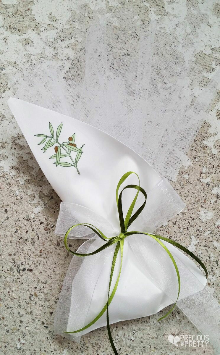 olive leaves wedding favors made in Greece