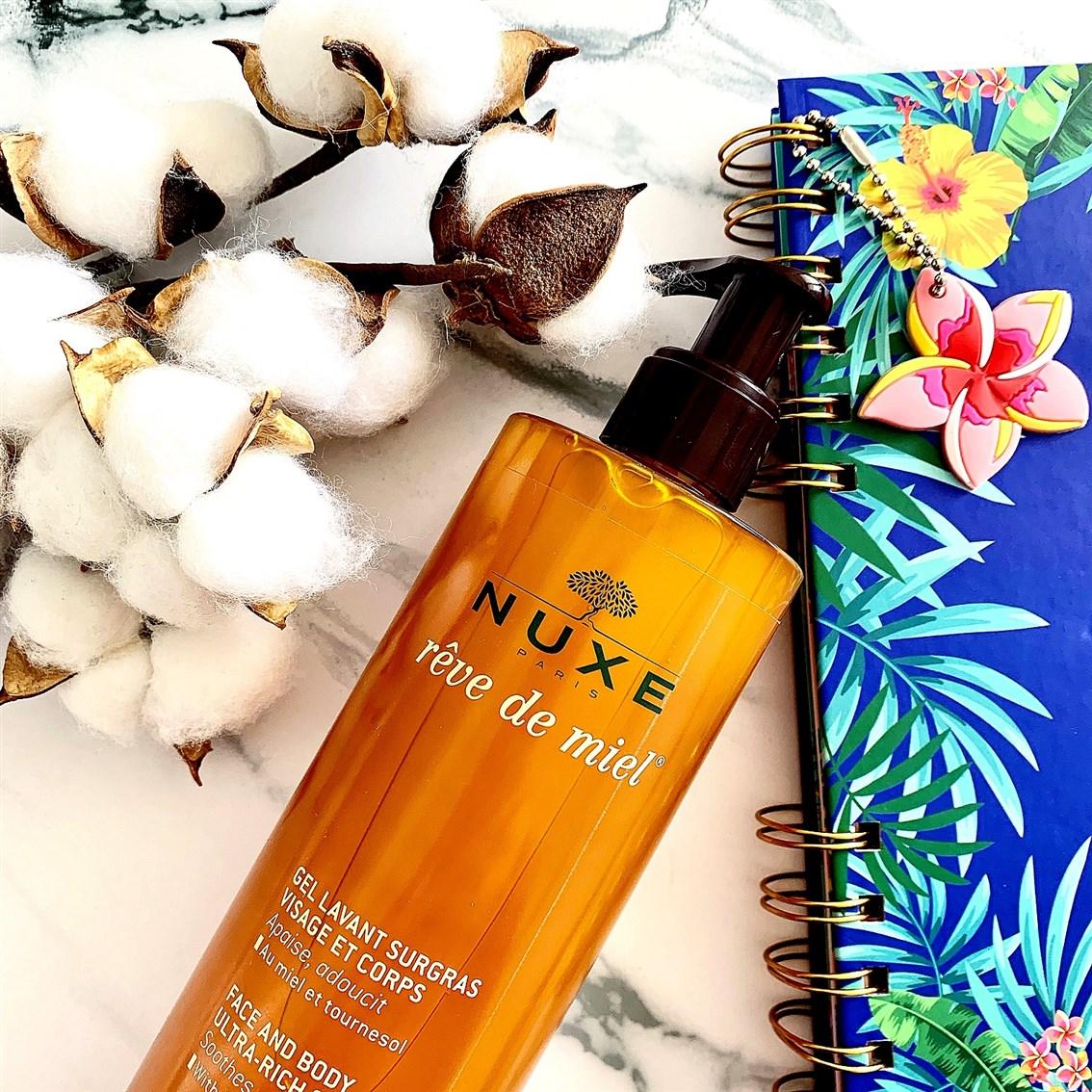 Nuxe Reve de Miel żel do mycia twarzy i ciała opinie blog