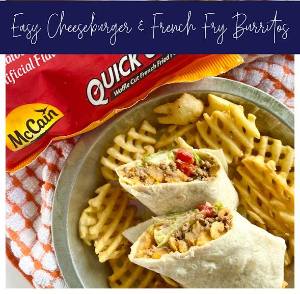 Easy Cheeseburger & French Fry Burritos