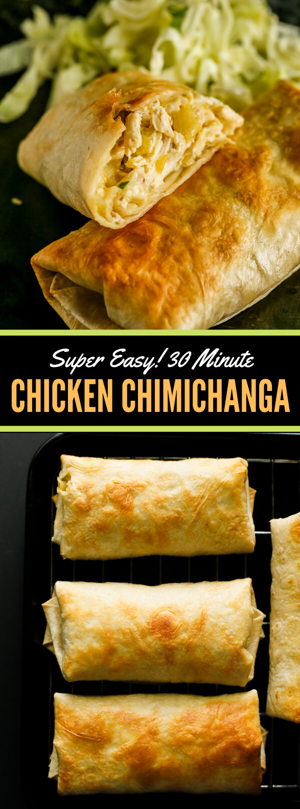 Easy 30-Minute Chicken Chimichanga Recipe #appetizers #dinner