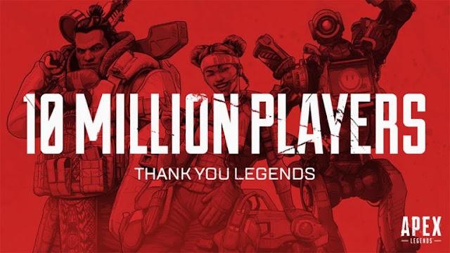 لعبة Apex Legends تواصل التحليق عالياً و تسجل 10 مليون لاعب في ظرف 72 ساعة !