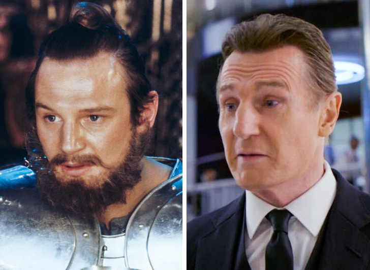 Liam Neeson: Excalibur (1981) — MIB: Homens de Preto Internacional (2019)