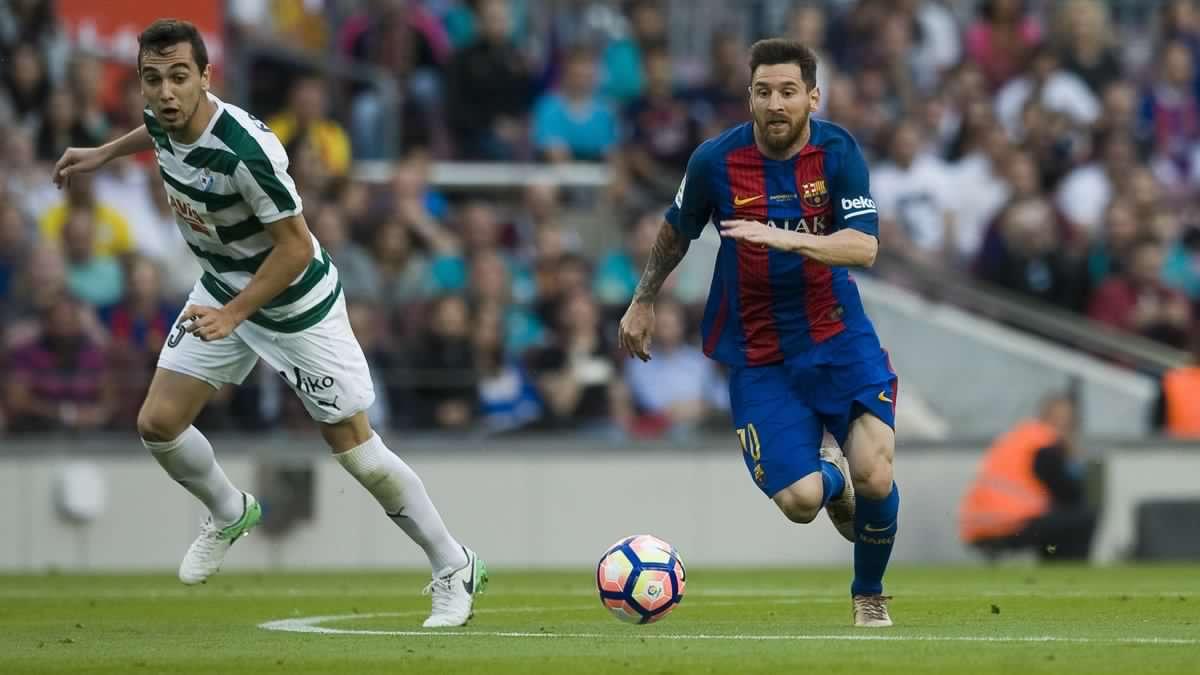 نتيجة مباراة برشلونة وايبار بتاريخ 19-10-2019 الدوري الاسباني