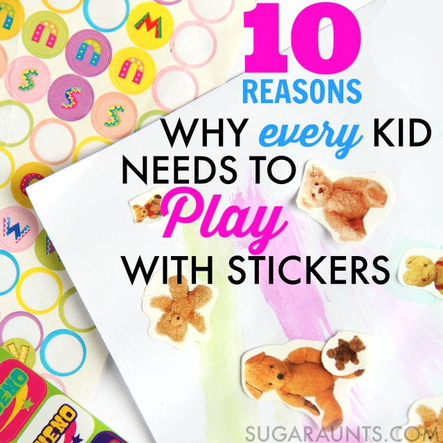 Use stickers in Occupational Therapy and development of so many skills with kids: fine motor, gross motor, visual perceptual, handedness, and more.