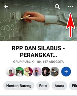 cara keluar grup FB lewat HP