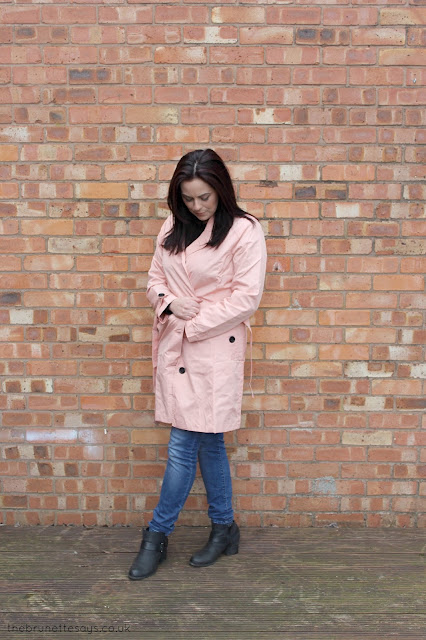 ootd, pink trench coat, mac, coat, spring, damart