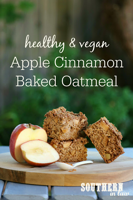 Healthy Vegan Apple Cinnamon Baked Oatmeal Recipe - low fat, gluten free, healthy, vegan, clean eating recipe, healthy breakfast recipes, freezer friendly, breakfast meal prep