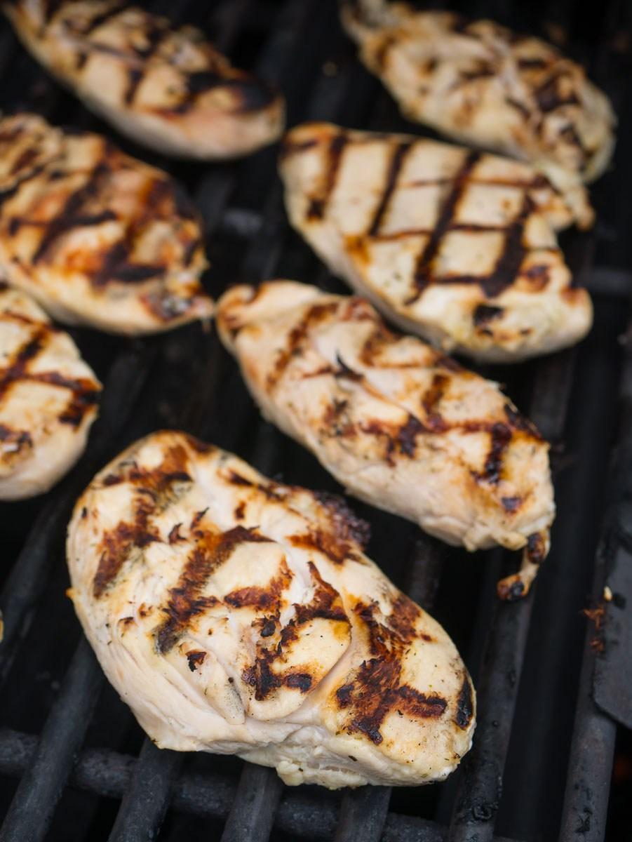 Chicken being grilled