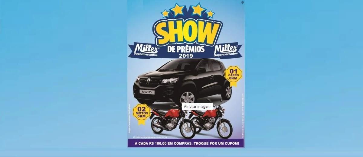 Promoção Miller Supermercados 2020 Show Prêmios Carro e Motos
