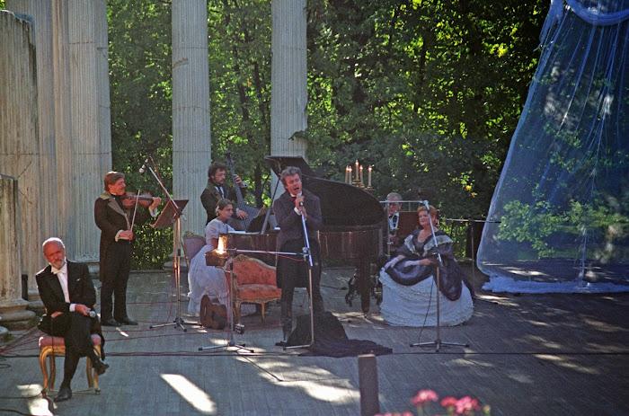 Varsovie, parc Lazienki, Teatr Stanisławowski, Pouchkine, Marek Wilewski, Wanda Zukowska, © L. Gigout, 1990