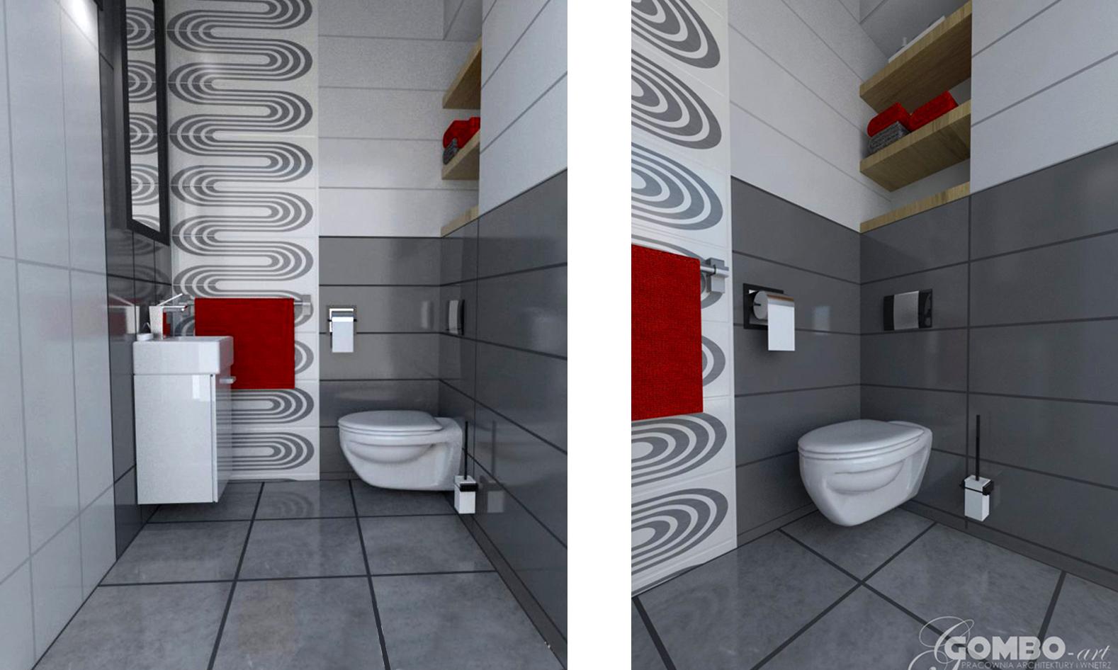 Jak zaaranżować / zaprojektować małą toaletę? Projekt małego wc.