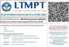 Contoh Slip pembayaran LTMPT lewat Bank BRI dan Bank lain mitra LTMPT