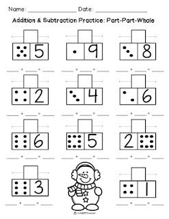 Winter math addition worksheet