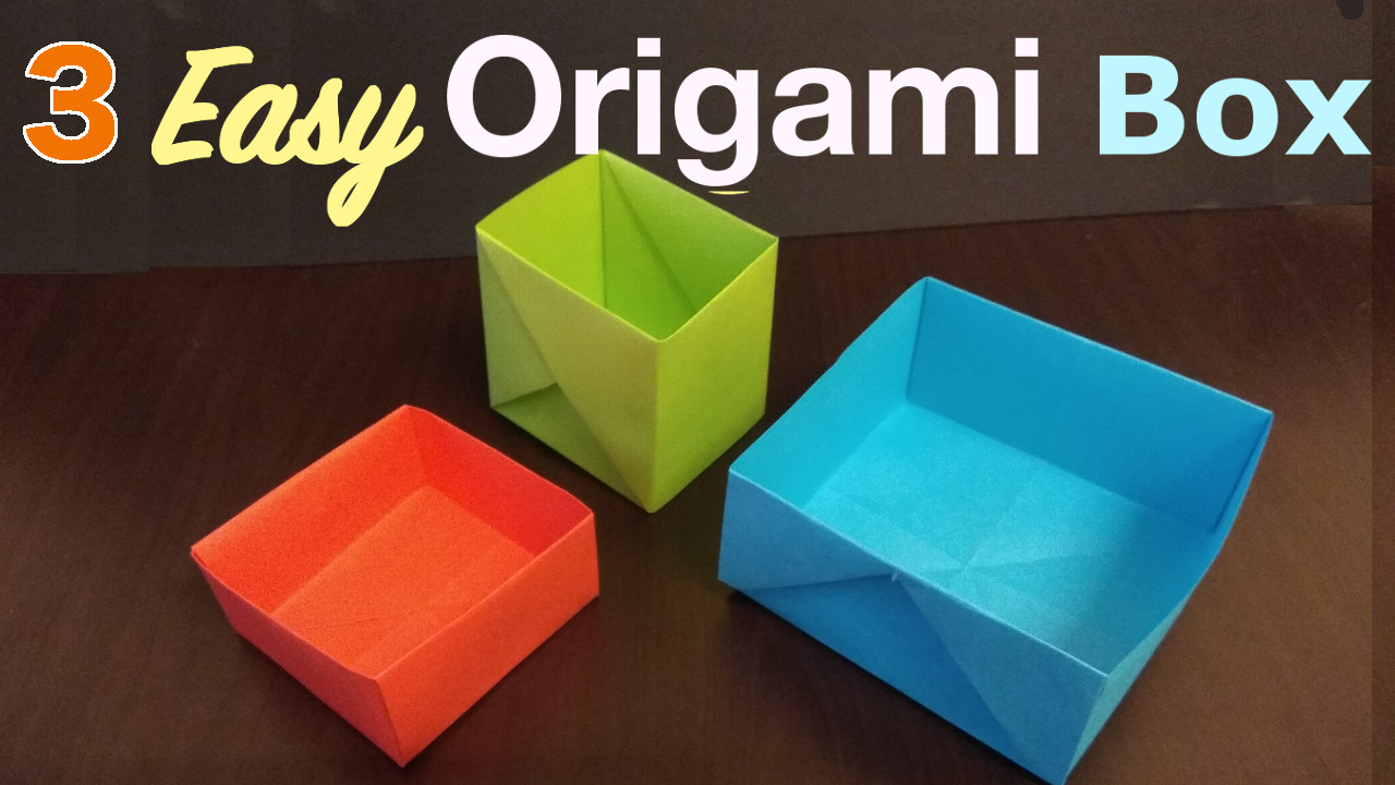 Yoshinys Design 3 Ways To Fold Origami Box
