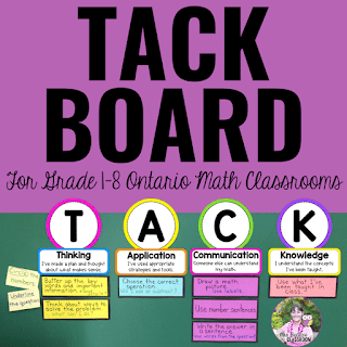 Cover of a TACK Board resource from Mrs. Beattie's Classroom on TpT.