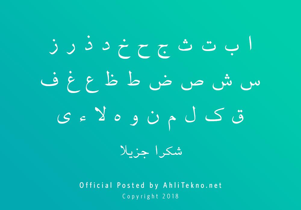 kumpulan font typography arabic keren (B Ferdosi)