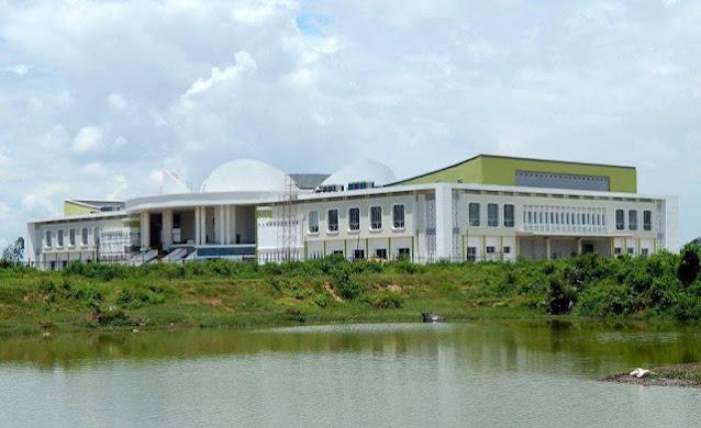 công trình đang thi công của trung tâm hội nghị chính trị tỉnh Trà Vinh