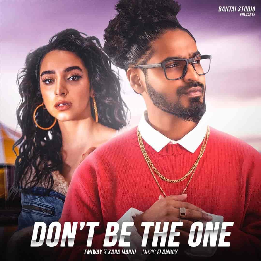 Don't Be The One Rap Song Image Features Emiway Bantai and Kara Marni