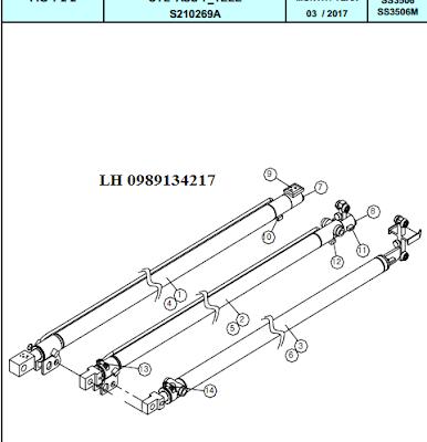 Xy lanh ra vào đốt cần Dong Yang 15 tấn SS3504-SS3506-SS3506M