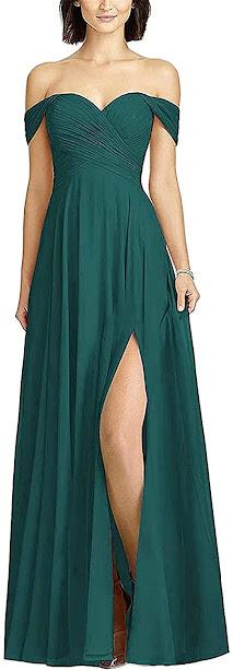 Best Quality Teal Chiffon Bridesmaid Dresses