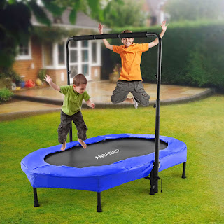 ANCHEER Mini Rebounder Trampoline with Adjustable Handle for Two Kids; Parent-Child Trampoline for kids; Stainless Steel trampoline; ANCHEER Mini Rebounder Trampoline; Mini Rebounder Trampoline;