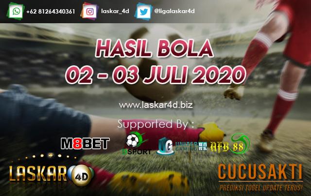 HASIL BOLA JITU TANGGAL 02 – 03 JULI 2020