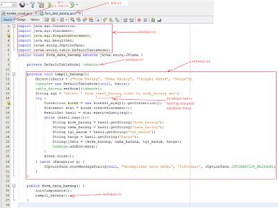 7 - Tutorial Java Netbeans – Cara Gampang Menampilkan Data Yang Ada Di Database Mysql