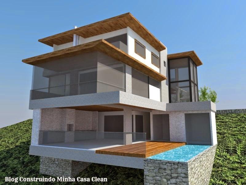 Construindo minha casa clean fachadas de casas em for Software para construir casas