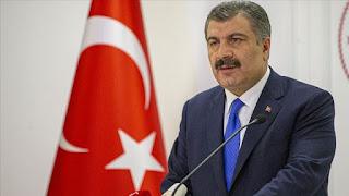 وزير الصحة يعلن عن عدد جديد للإصابات والوفيات بفايروس كورونا في تركيا
