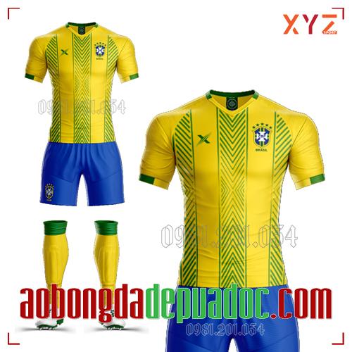 Áo Đội Tuyển Brazil Tự Thiết Kế Mã BRA-03 Đẹp Và Độc
