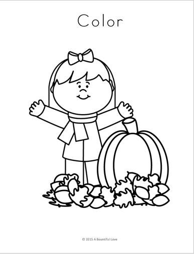 A Bountiful Love: Fall theme Pre Writing Sheets ( Free