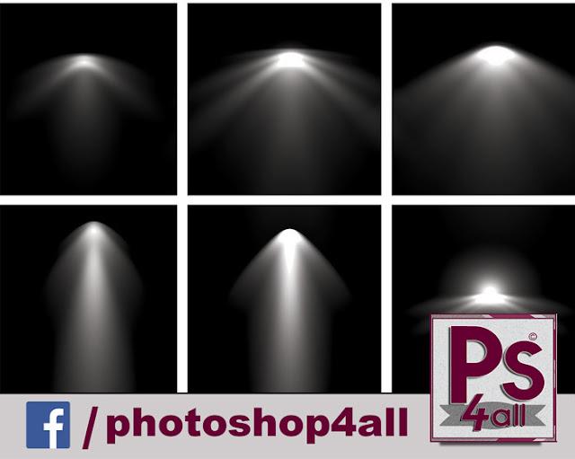فرش فوتوشوب | فرش كشافات مضيئة وأشعة مضييئة وأسبوتات برنامج فوتوشوب