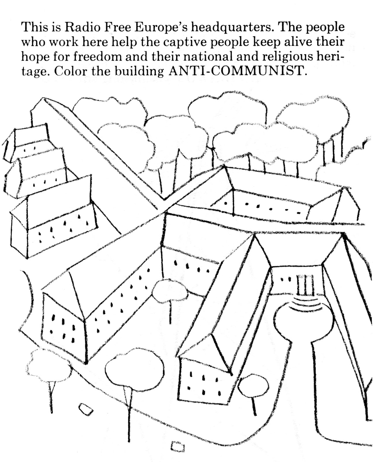 Cold War Political Cartoon Coloring Page