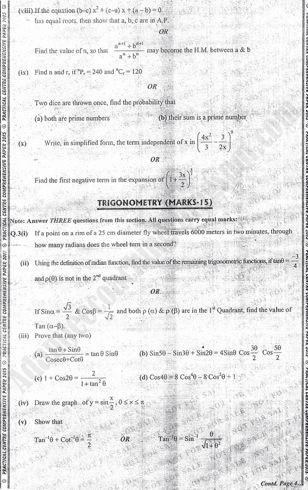 Adamjee Coaching: Practical Centre Guess Papers 2015 for