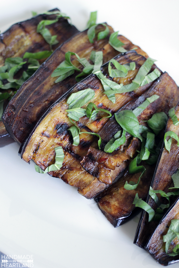 marinated grilled eggplant