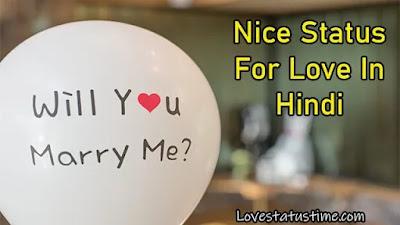 Nice Status For Love In Hindi