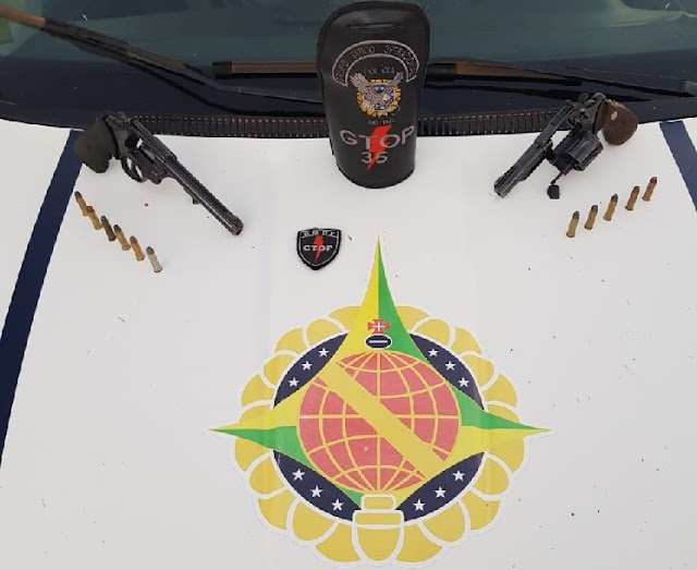 PMDF prende homem e apreende menor por porte ilegal de arma de fogo
