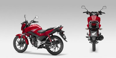2016 HONDA CB125F side & rear look