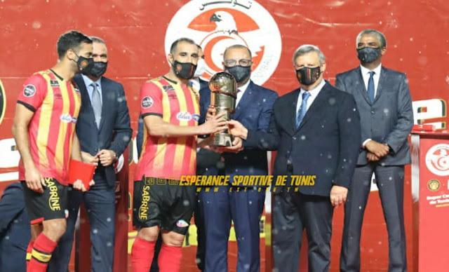 الترجي الرياضي التونسي يتوج  بكأس السوبر التونسي للمرة الثالثة على التوالي