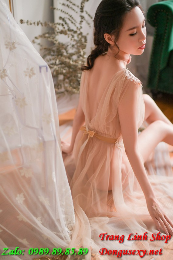 Váy ngủ dài siêu mỏng siêu thấu gợi tình