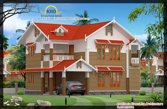 150 Square Meters (1616 Square Feet) Villa Elevation idea
