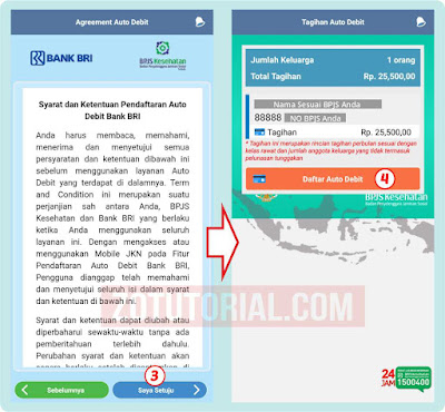 Cara Daftar Autodebet BPJS BRI Online Lewat HP (Mobile JKN) zotutorial