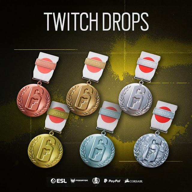 Como já é de se saber, a cada Pro League (Campeonato mundial de Rainbow Six Siege) transmitida pela Twitch, os jogadores que estiverem assistindo as partidas nos dias 9 e 10 de Novembro (Sexta e Sábado).
