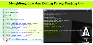 Program Menghitung Luas dan Keliling Persegi Panjang C++