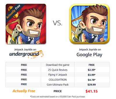 Amazon Underground Free Paid Apps Free In-App Purchases